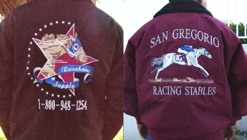 Racehorse supply custom embroidered jackets caps